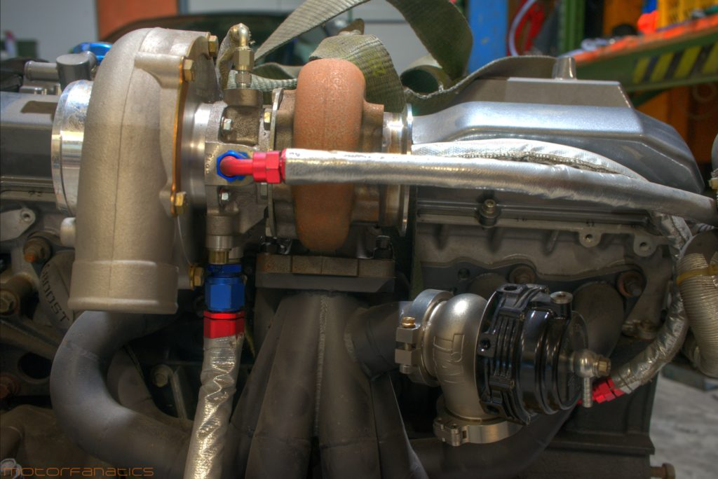 RB25DET NEO COMP TURBO TIAL WASTEGATE 6BOOST MANIFOLD SETUP