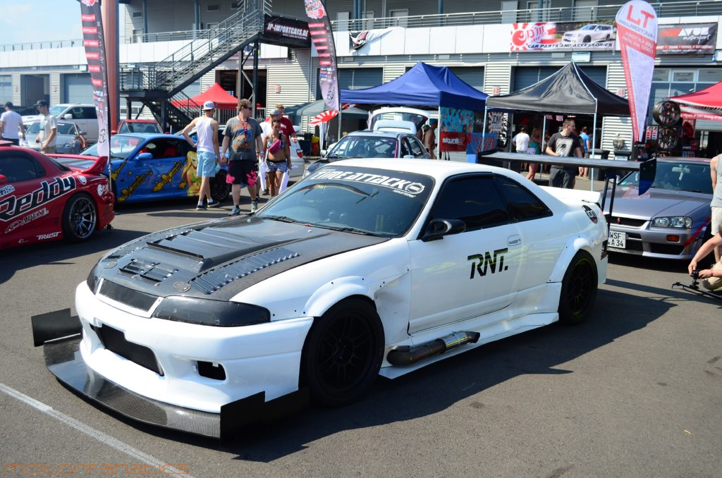 RNT Time Attack R33 GTR with Sideexhaust at Reisbrennen Lausitz circuit 2015